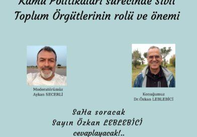 SaHaDer 17 Nisan Saat: 21'de Dr. Özkan LEBLEBİCİ ile Canlı Yayında